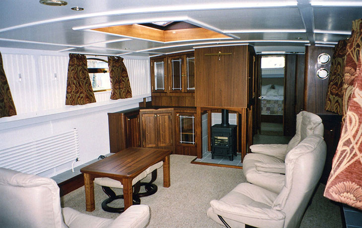 A Dutch Barge interior by Delta Marine Services